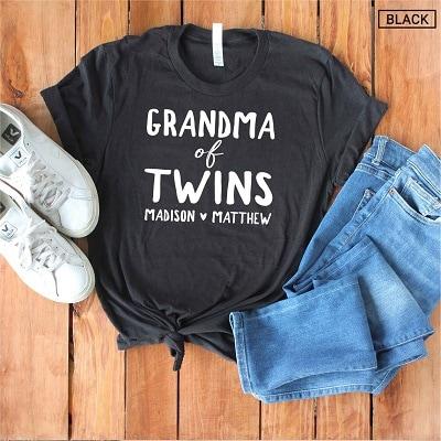 Black grandma of twins shirt