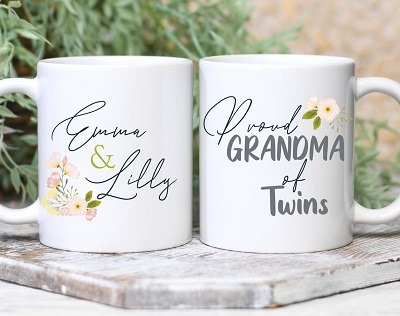 Personalized white grandma mug