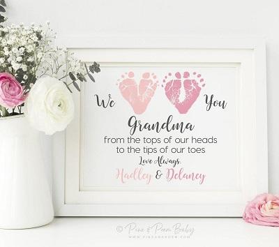 grandma poem in a white frame