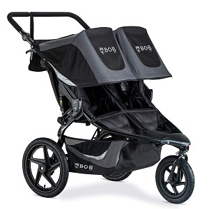 black double stroller