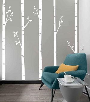 birch tree wall paper