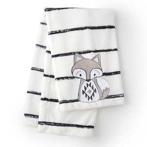 black and white fo blanket