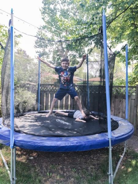 backyard summer olympics trampoline