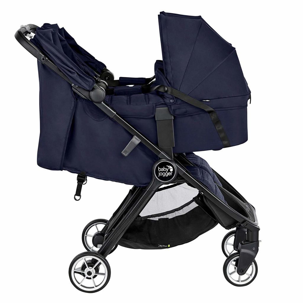 baby jogger city tour 2 double stroller with 2 prams