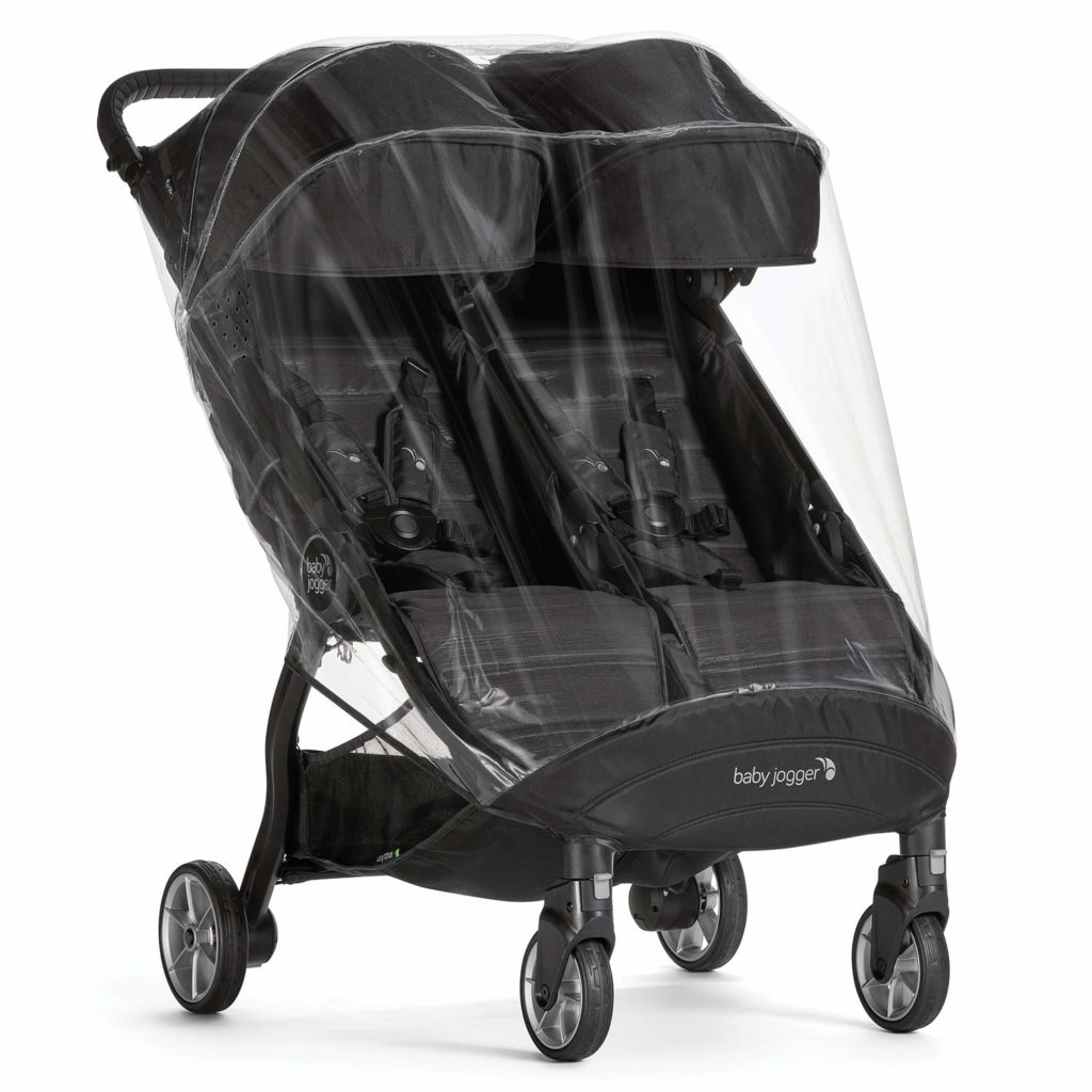 baby jogger with clear weather shield