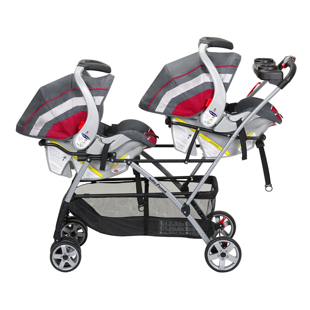 Baby Trend stroller with seats installed
