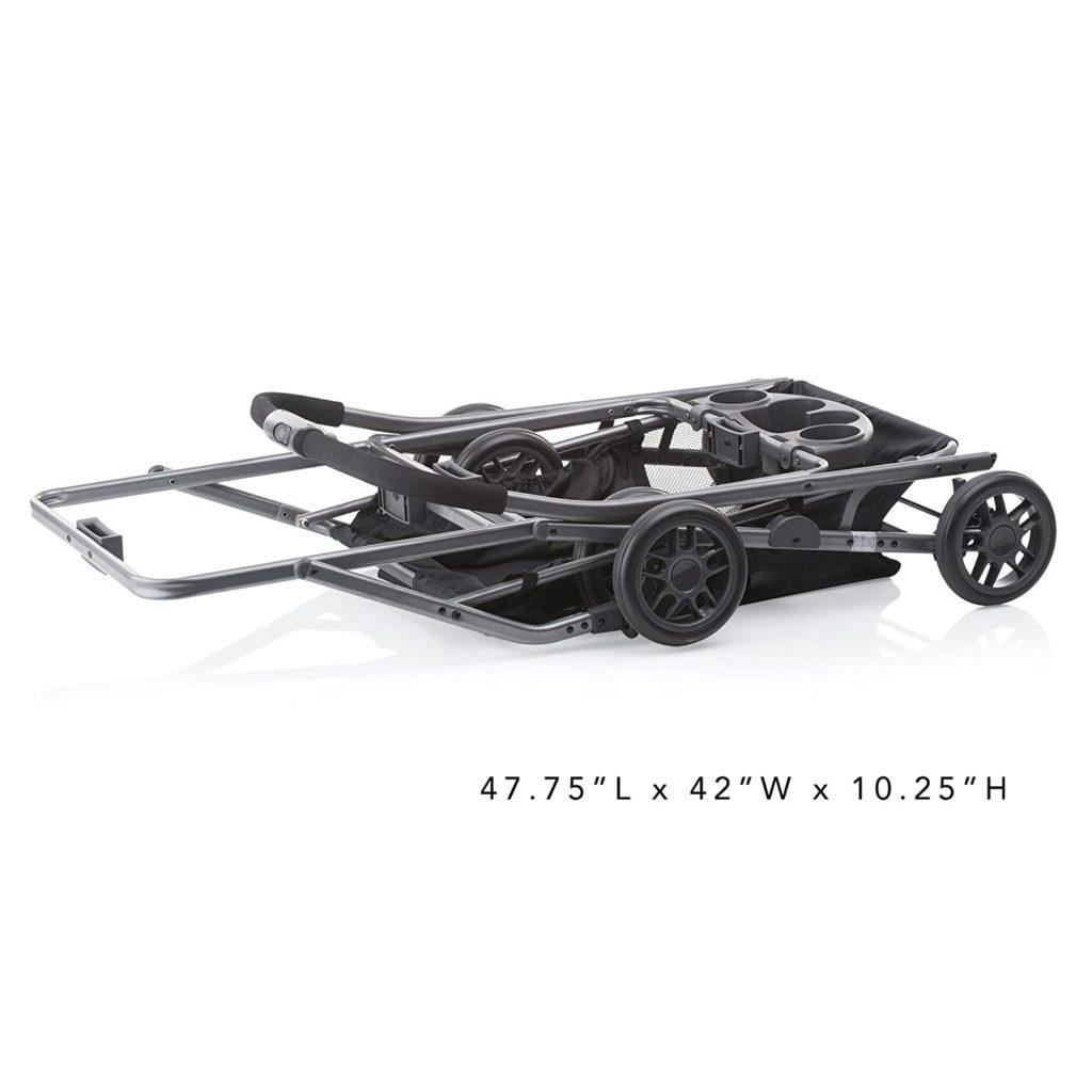 Joovy stroller frame folded