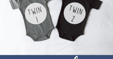 two onesies that say twin 1 and twin 2 Signs of Twin pregnancy