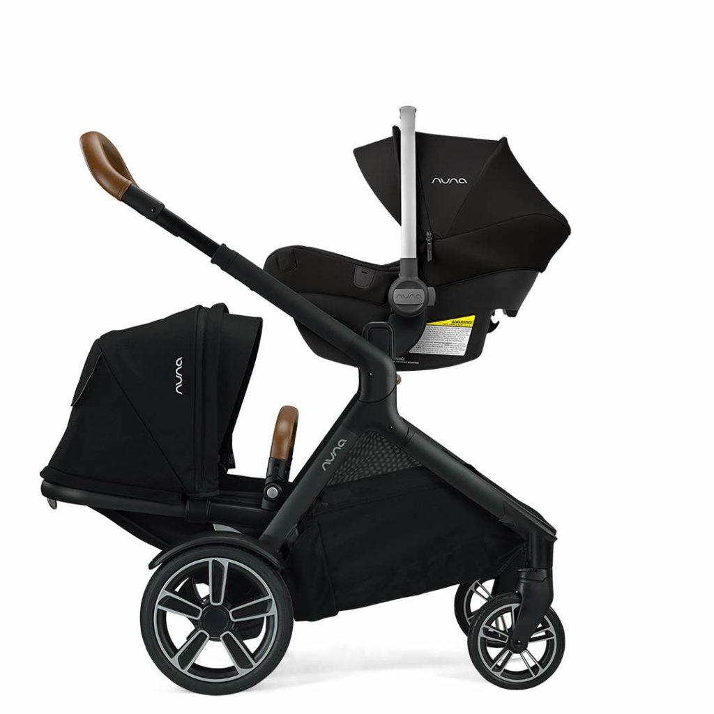 nuna demi grow stroller in black