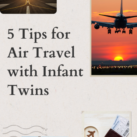 5 Tips for Travel with Infant Twins