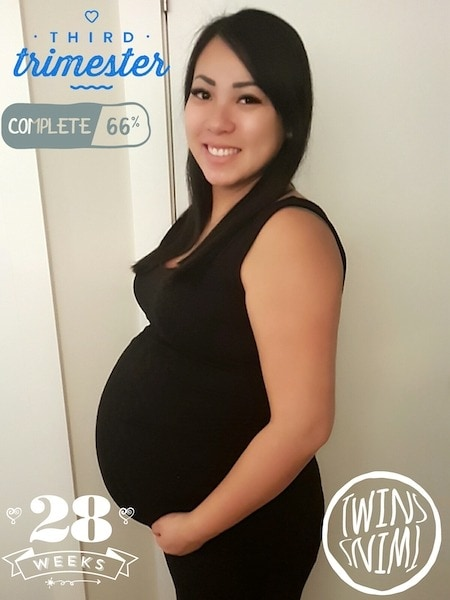 28 weeks pregnant with twins