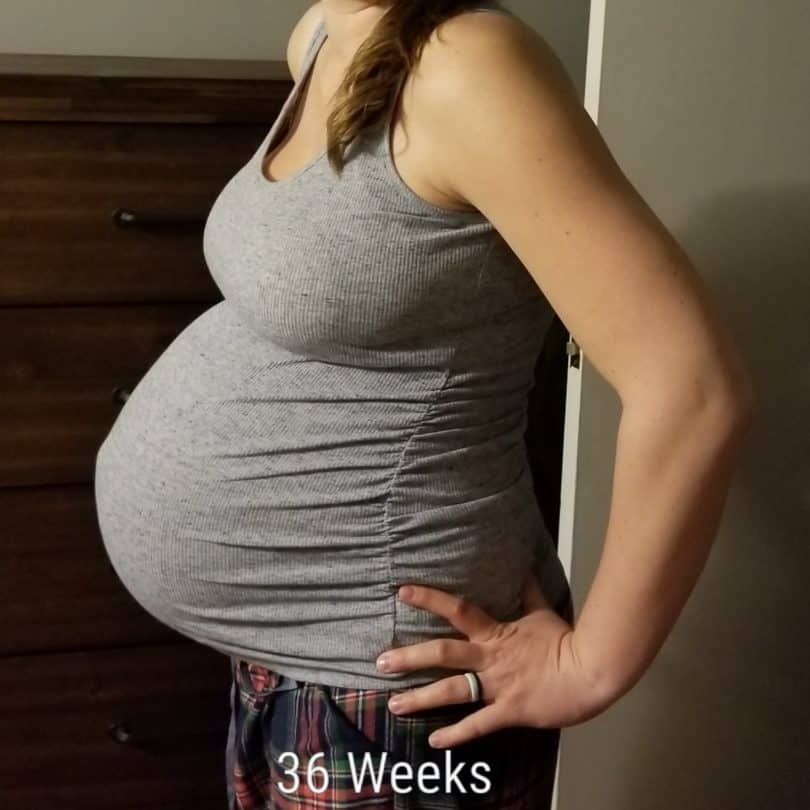 36 weeks pregnant with twins