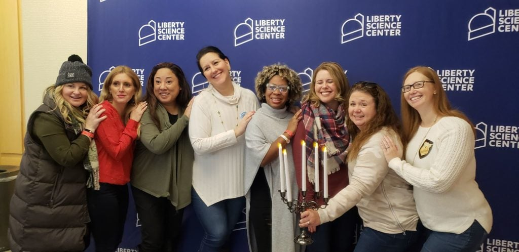Moms visiting the Liberty Science Center