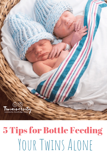 5 Tips for Bottle Feeding Your Twins Alone