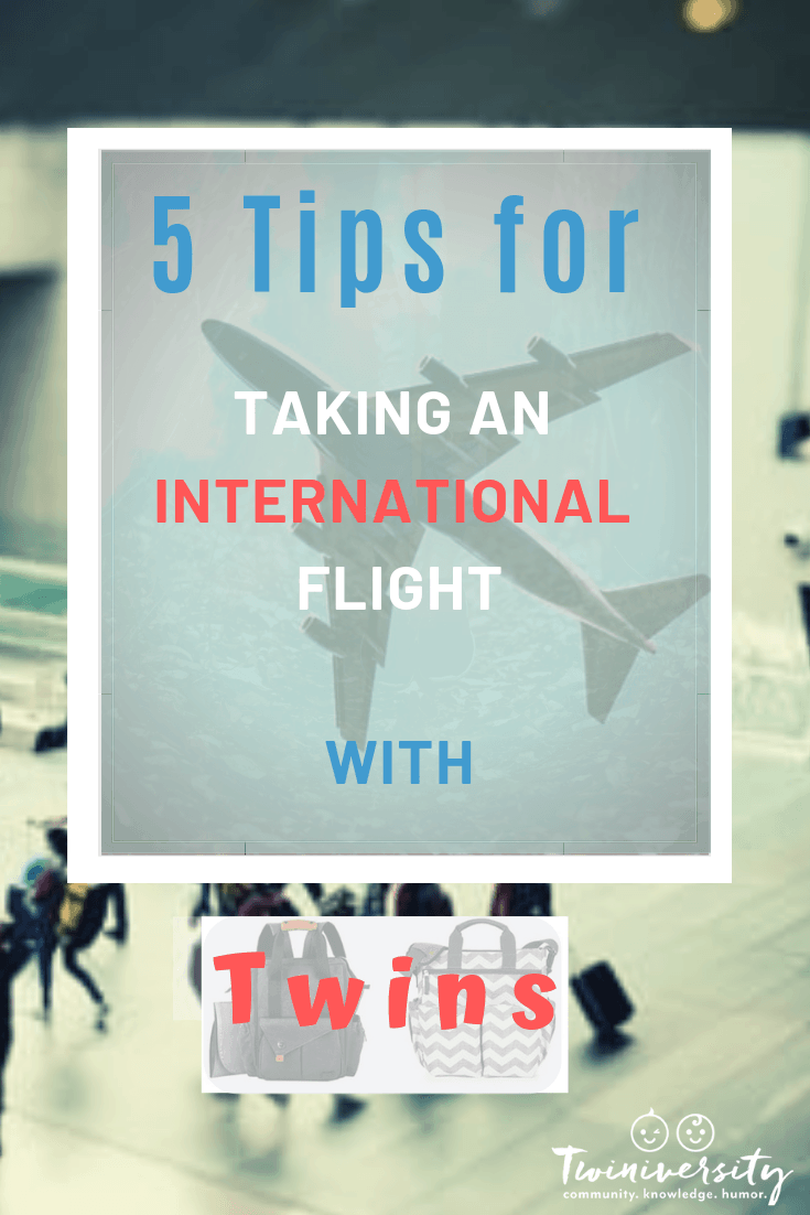 5 Tips for Taking an International Flight with Twins