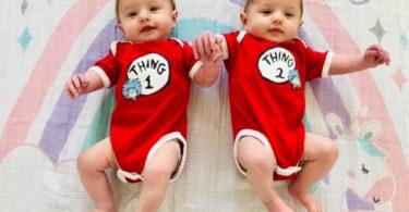 baby twins Plagiocephaly