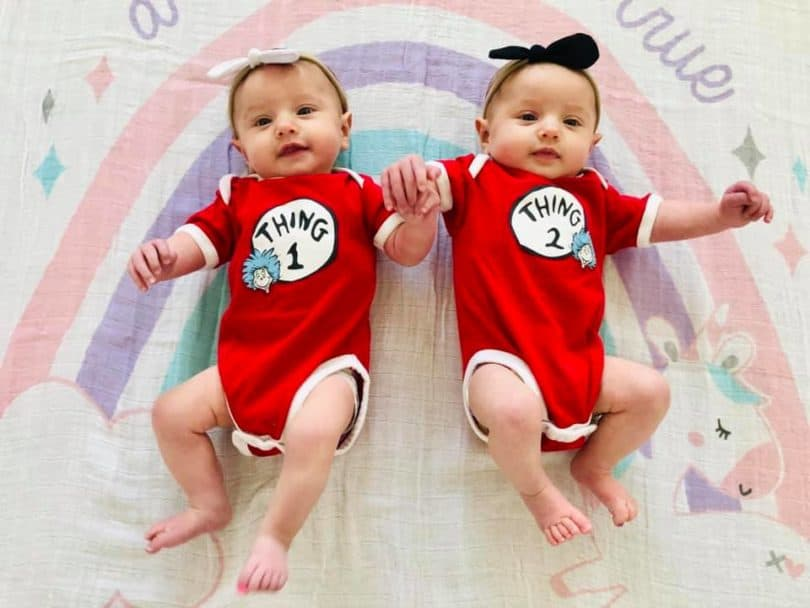 baby twins Plagiocephaly