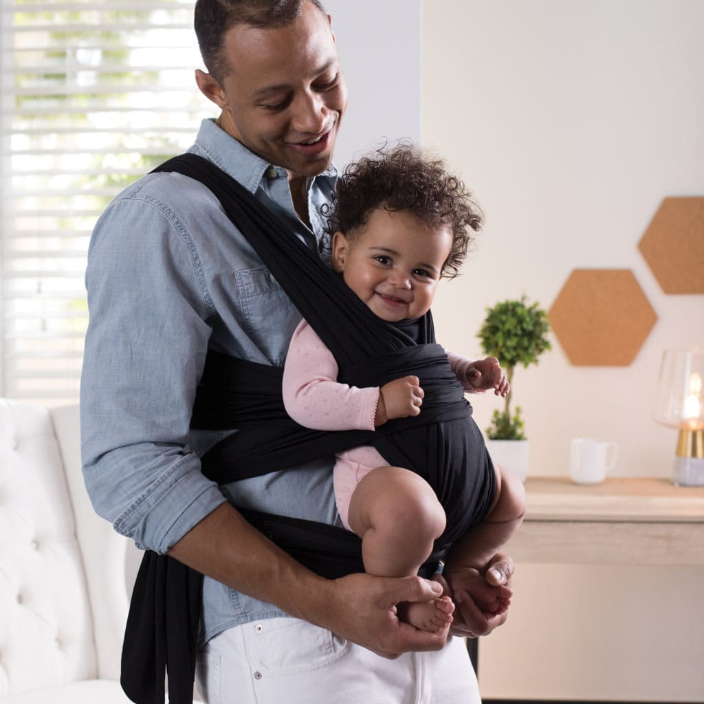 dad wearing baby truth about babywearing