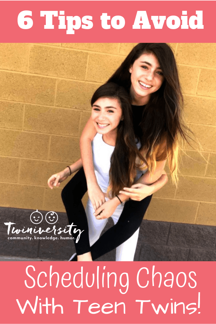 6 Tips to Avoid Scheduling Chaos with Teen Twins