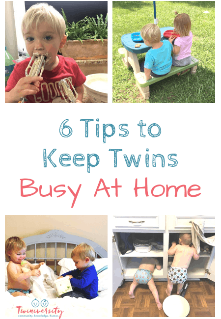 6 Tips to Keep Twins Busy At Home