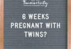6 weeks pregnant with twins
