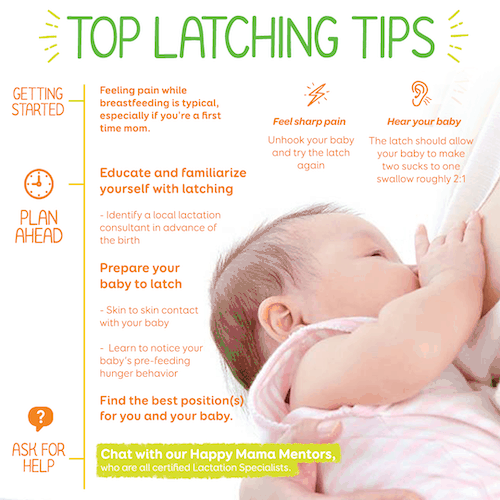 top latching tips infographic feeding twins