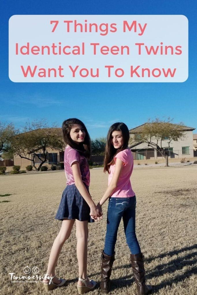 identical teen twins
