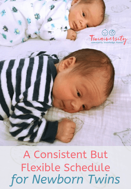 A Consistent But Flexible Schedule for Newborn Twins