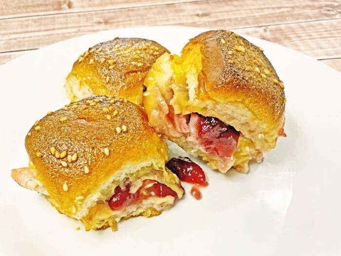 leftover turkey and cranberry sliders