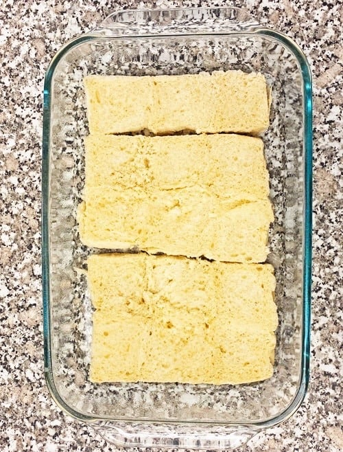 pan of ingredients for leftover turkey sliders recipe