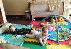 triplets on a play mat