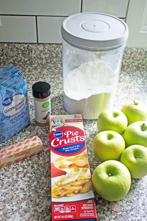 ingredients for making apple pie