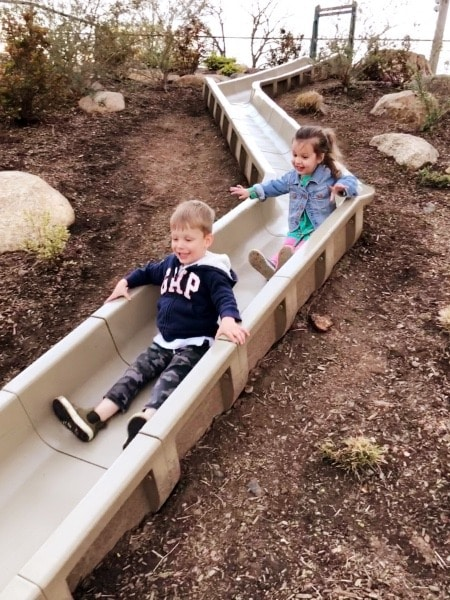 kids on slide family vacation destinations