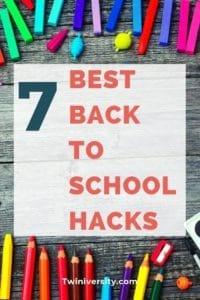 Back to school hacks