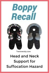 Boppy Recall Head and Neck Support for Suffocation Hazard