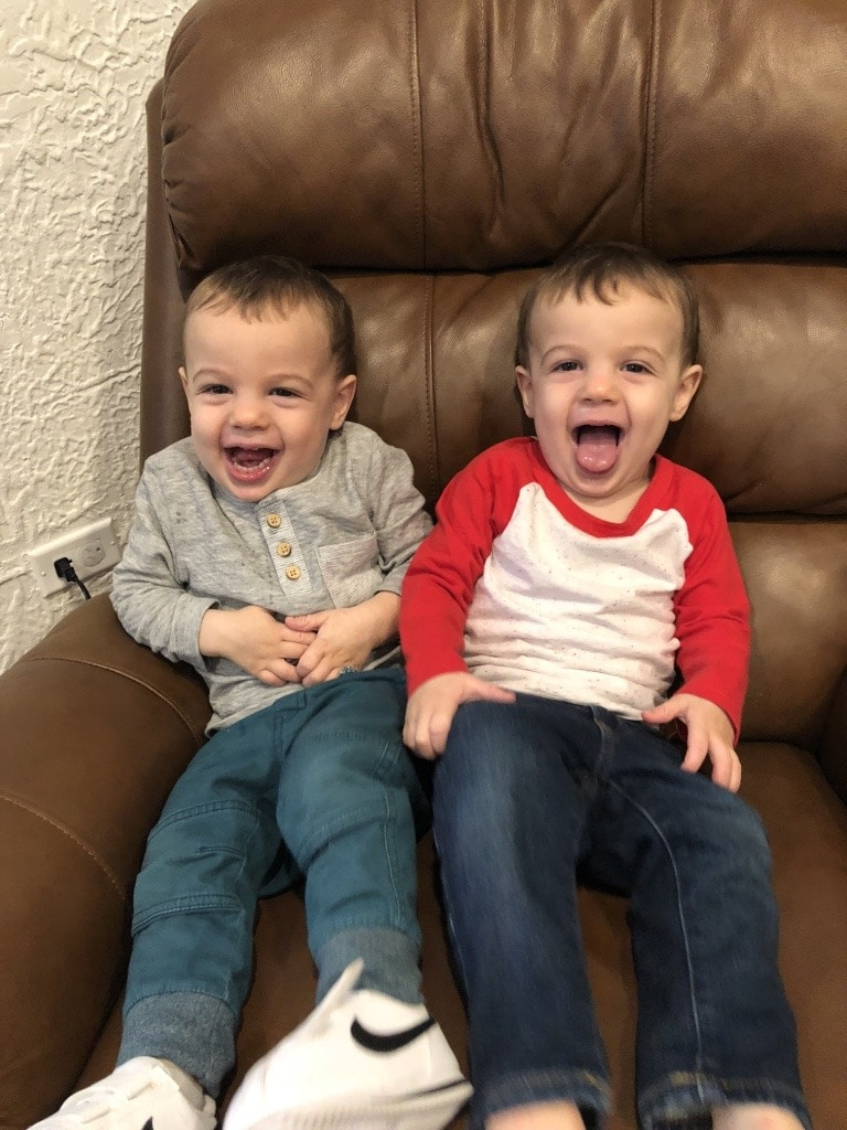 identical twin boys toddlers finding the humor