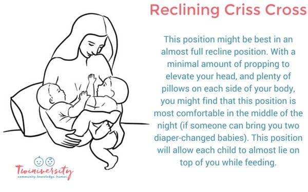 positions for breastfeeding twins