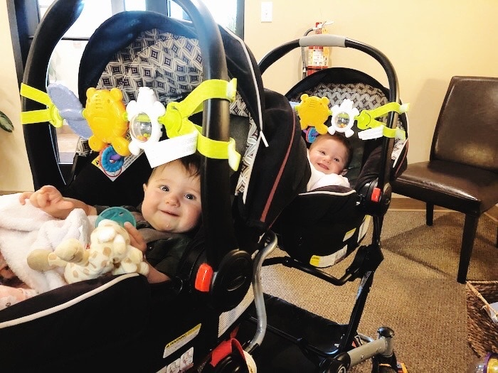 twin babies in a stroller Container Baby Syndrome