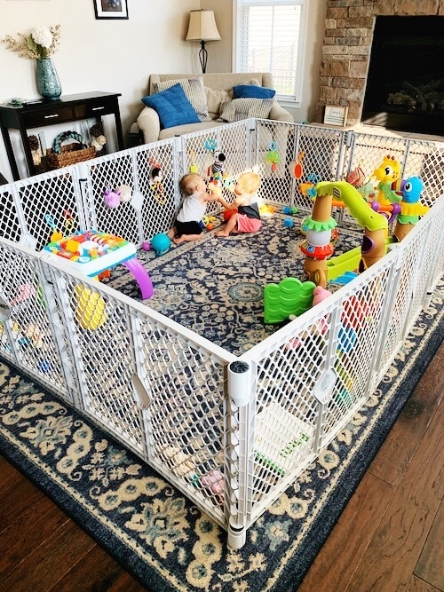 play yard with twin babies Container Baby Syndrome