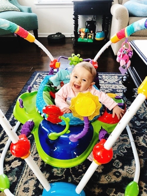 baby in a exersaucer Container Baby Syndrome