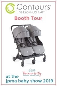 Bitsy Double Stroller contours double stroller