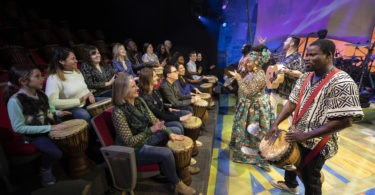 audience and live band djembe! the show