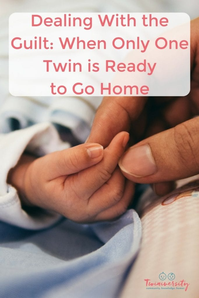 onw twin is ready to go home