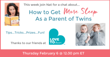how to get more sleep as a parent of twins facebook live chat