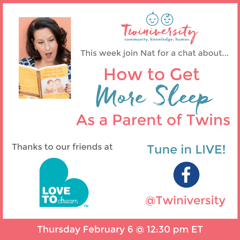 How to Get More Sleep as a Parent of Twins: Facebook Live Chat