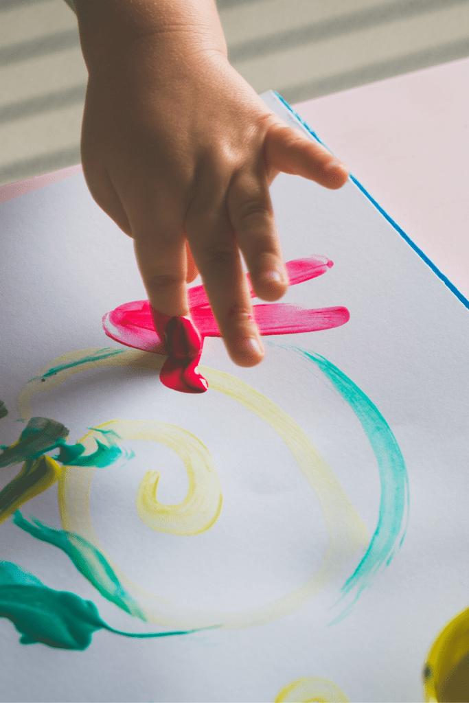 finger painting family art gallery