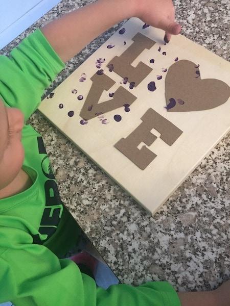 fingerprint love art Valentine's Day Decorations