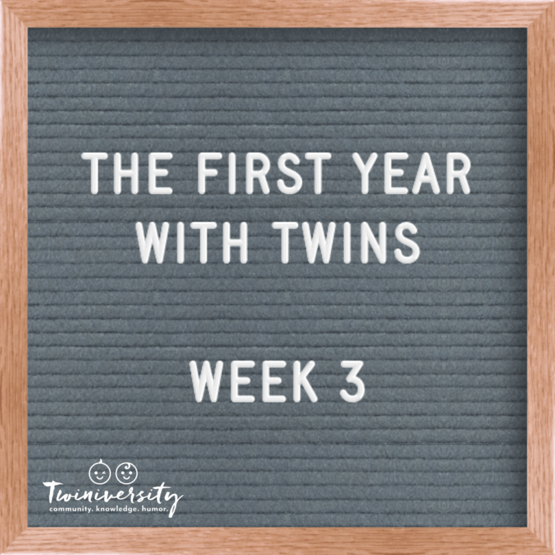 first year with twins week 3