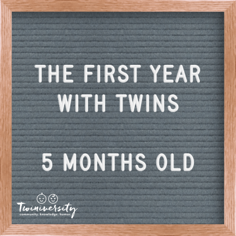 First Year with Twins 5 Months Old