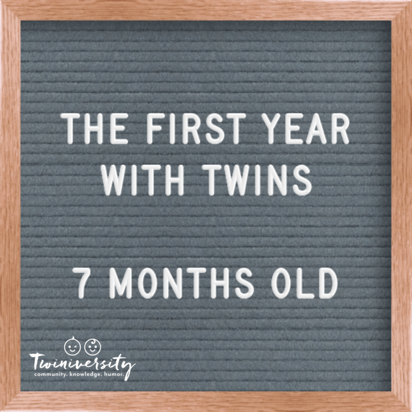 First Year with Twins 7 Months Old